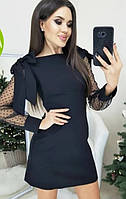 Нарядное платье с сеткой на рукавах Melody, фото 1