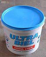 Краска акриловая  снежно-белая для стен и потолков Ultra-Бiel (Ультра белая) Sniezka  (7 кг), фото 1