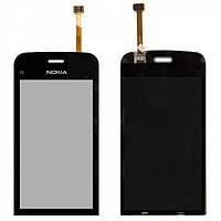 Touchscreen (сенсорный экран) для Nokia C5-06, черный, оригинал