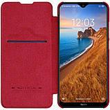 Nillkin Xiaomi Redmi 8 Qin Red leather case Шкіряний Чохол Книжка, фото 3