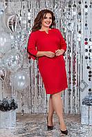 Платье женское красное большого размера