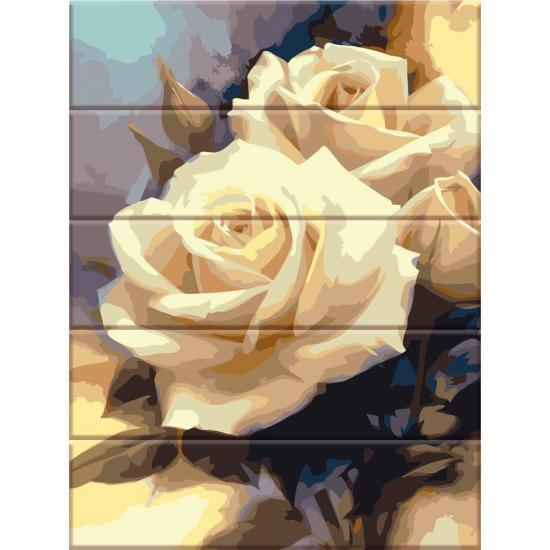Картина по номерам на дереве Пастельные розы , 30x40 см Art Story