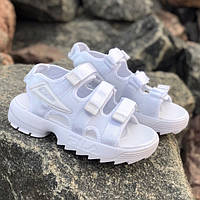 Женские сандалии\босоножки в стиле Fila Disruptor Sandals All White