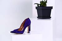 Туфли лодочки женские, натуральная замша!