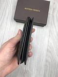 Шкіряна чоловіча візитниця Bottega Veneta чорна Якість натуральна шкіра картхолдер Боттега Венета репліка, фото 6