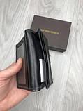 Шкіряна чоловіча візитниця Bottega Veneta чорна Якість натуральна шкіра картхолдер Боттега Венета репліка, фото 4