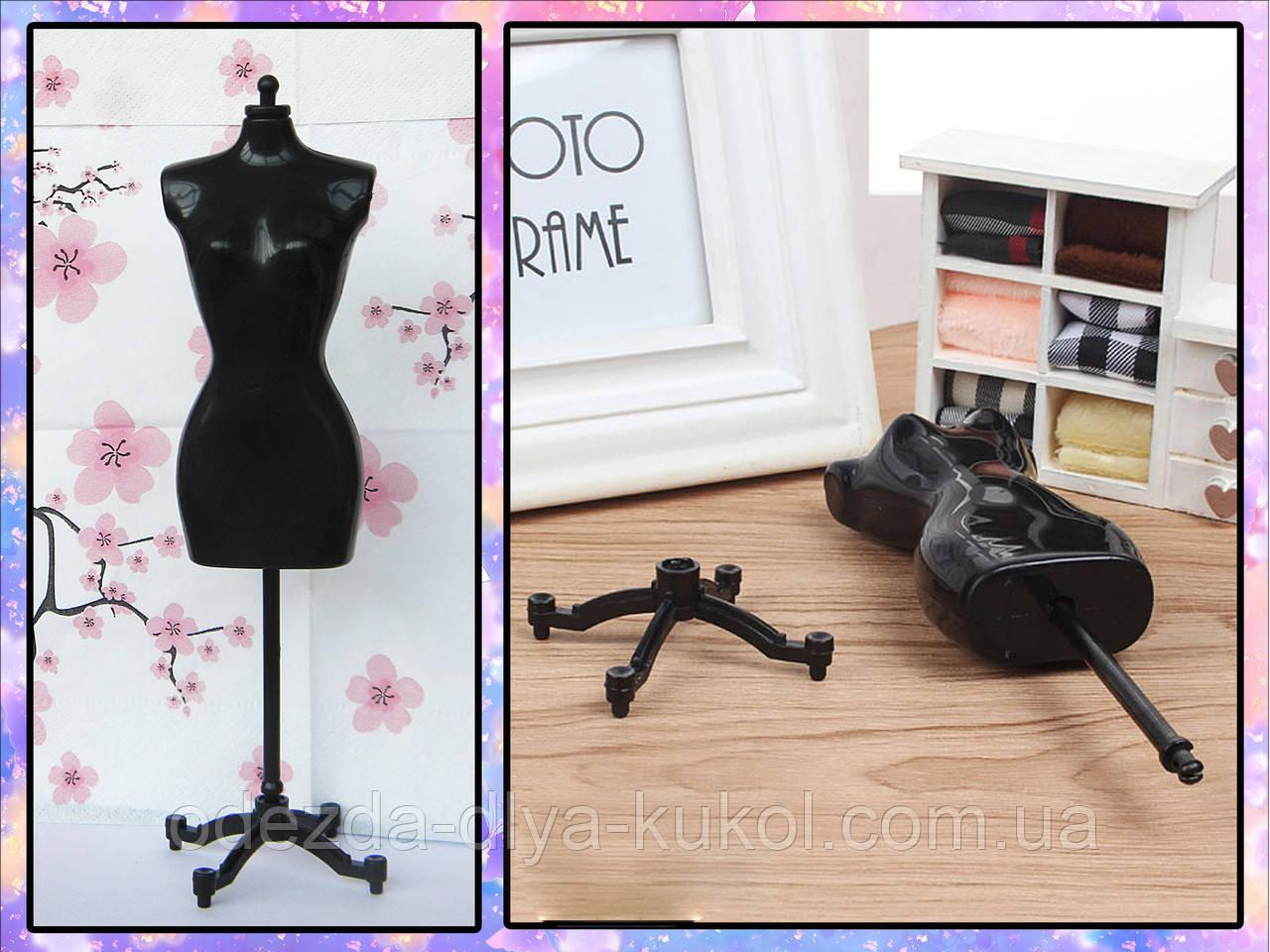 Манекен для кукольной одежды (чёрный)
