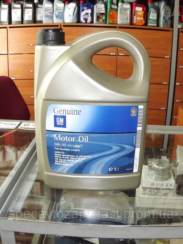 GENERAL MOTORS 5W30 1942003 синтетическое моторное масло 5л