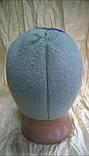 Стильная спортивная шапка  двойной вязки  мужская цвет-серый, фото 2