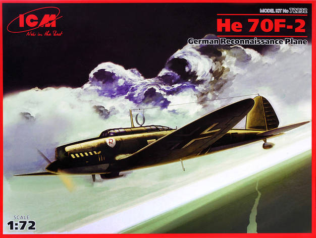 Heinkel He 70F-2 German reconnaissance plane (Heinkel Flugzeugwerke). 1/72 ICM 72232, фото 2