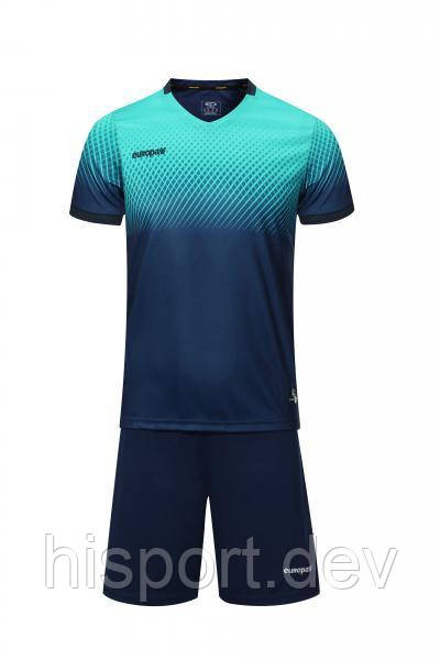 Игровая футбольная форма т.сине-бирюзовая 024 Europaw