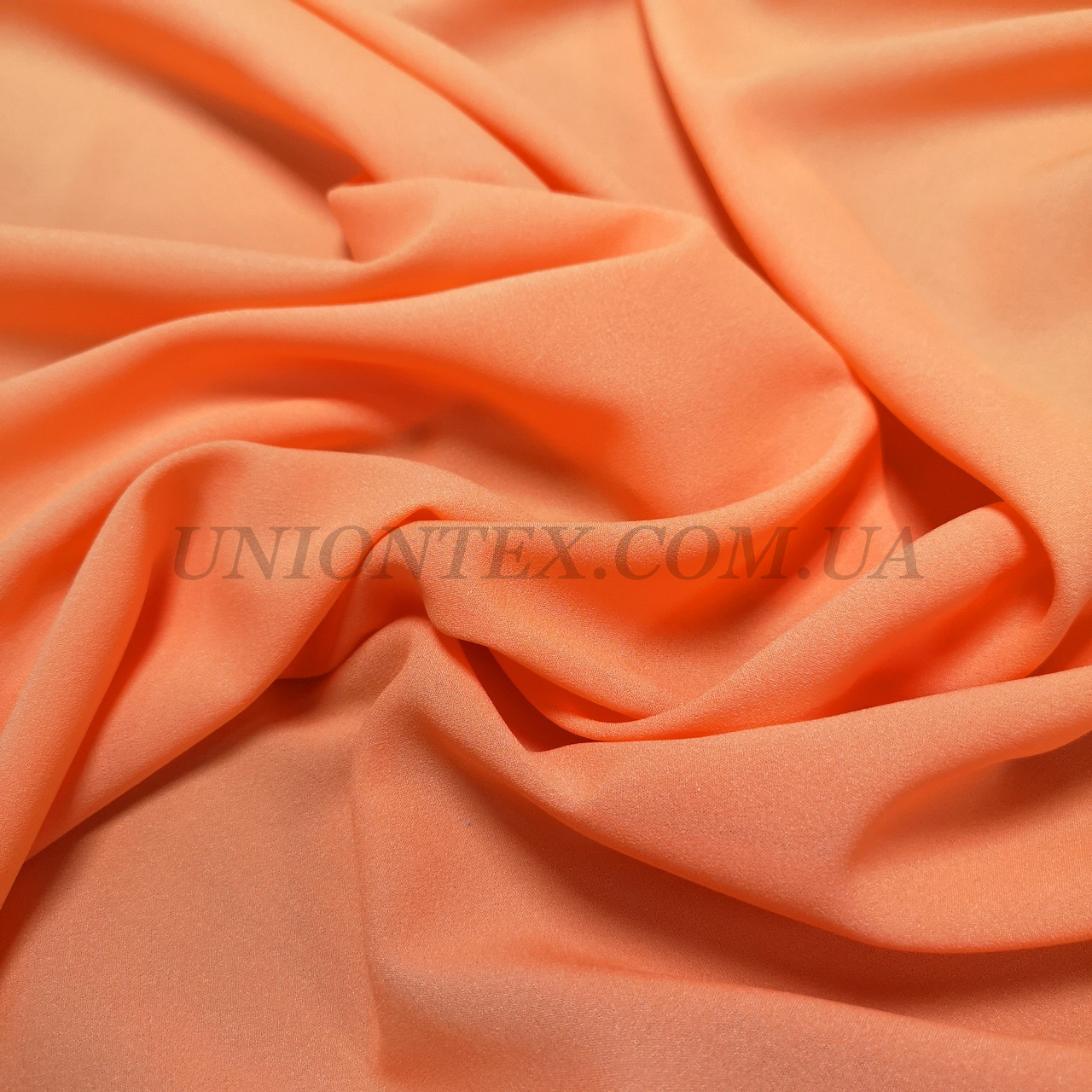 Ткань креп-шифон оранжевый
