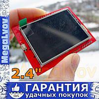 Дисплей TFT LCD 2.4 дюйма ILI9941 320х240 тачскрин SD карта Arduino UNO , Arduino mega2560 шилд