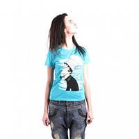 Необычная женская футболка, рисунок Повар