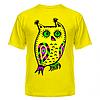 Футболка Разноцветная сова