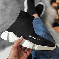 Женские кроссовки в стиле Balenciaga Speed Trainer Sock Black\White