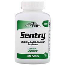 """Вітаміни і мінерали 21st Century """"Sentry"""" для дорослих (300 таблеток)"""