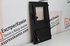 Дверцы печные со стеклом «FIONA» 300х515, фото 3