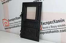 Дверцы печные со стеклом «FIONA» 300х515, фото 2