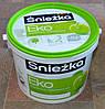 Краска акриловая  гипоаллергенная для стен и потолков EKO Sniezka  (4,2 кг)