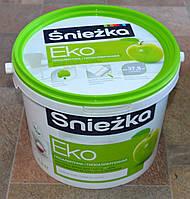 Краска акриловая  гипоаллергенная для стен и потолков EKO Sniezka  (4,2 кг), фото 1