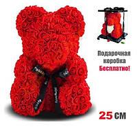 Мишка из 3D роз 25 см в красивой подарочной упаковке мишка Тедди из роз, фото 1