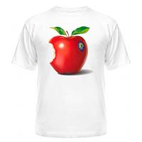Футболка жіноча з малюнком Откусанное яблуко