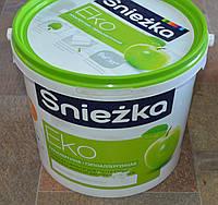 Краска акриловая  гипоаллергенная для стен и потолков EKO Sniezka  (7 кг)