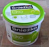 Краска акриловая  гипоаллергенная для стен и потолков EKO Sniezka  (14 кг), фото 1