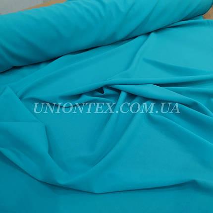 Ткань креп-шифон голубая бирюза, фото 2