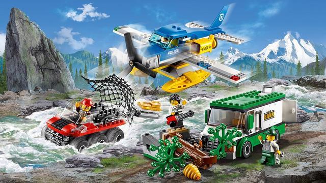 Конструктор LEGO 60175 City Пограбування у гірської річки 387 деталі (Лего Ограбление у горной речки 60175)