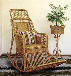 Кресло - кочалка из лозы