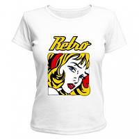 Женская футболка, яркий принт Retro