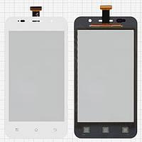 Сенсорный экран (touchscreen) для Prestigio MultiPhone 4322 Duo, белый, оригинал