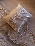 Свадебная подушка для обручальных колец Hearts, фото 4
