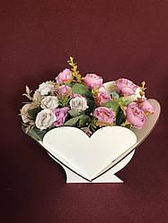 """Корзина для цветов """"Сердце"""""""