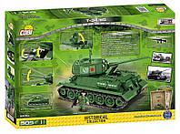 Конструктор COBI Танк СССР Т-34/84 с фигуркой танкиста. COBI-2476A (Made in EU)