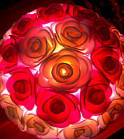 Светильник Букет роз 5 Оригинальный подарок ручной работы на 8 Марта, фото 1