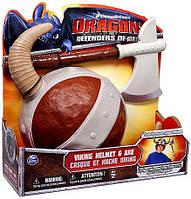 Шлем викинга и топор из серии Как приручить дракона. Dragons Defenders of Berk Exclusive Viking Helmet & Axe, фото 1