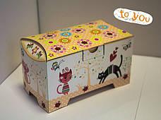 Картонная упаковка для кондитерских изделий Сундучок Розы мятний, 150-300г, фото 2