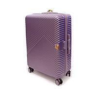 Дорожный фирменный чемодан Wings большого размера на 4 колесах фиолетовый