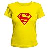 Футболка женская принт супермен, знак Superman