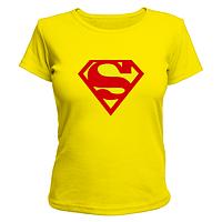 Футболка женская принт супермен, знак Superman, фото 1