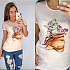 Универсальная футболка женская 42-48 (в расцветках), фото 5