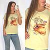 Универсальная футболка женская 42-48 (в расцветках), фото 4