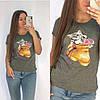 Универсальная футболка женская 42-48 (в расцветках), фото 3