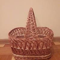 Плетеная пасхальная корзина квадратной форм, фото 1