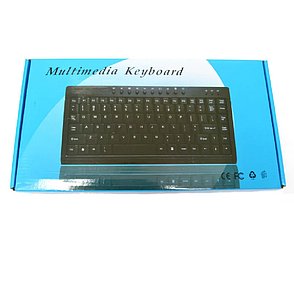 Клавиатура мини проводная USB 838 Black, клавиатура для компьютера, маленькая клавиатура, фото 2