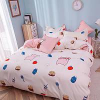 """Полуторный комплект постельного белья """"Розовый поросенок"""", фото 1"""