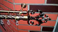 Карниз кованый двойной25+16 Лувр-1,6